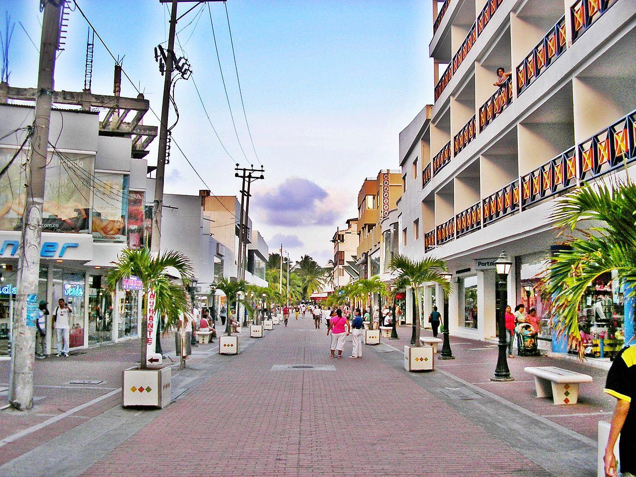 Avenida Providência em San Andrés