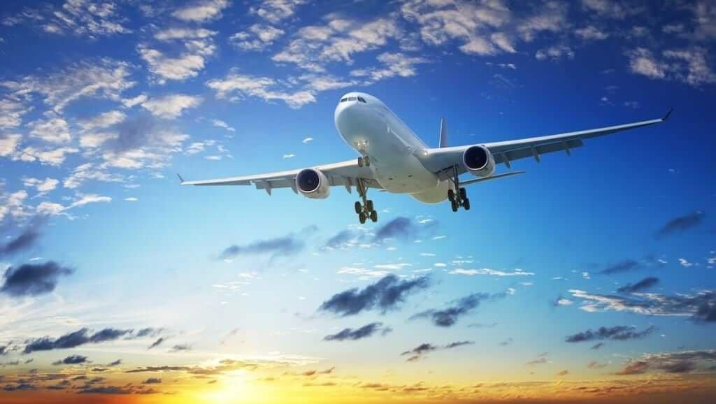 Viagem de avião para a Colômbia