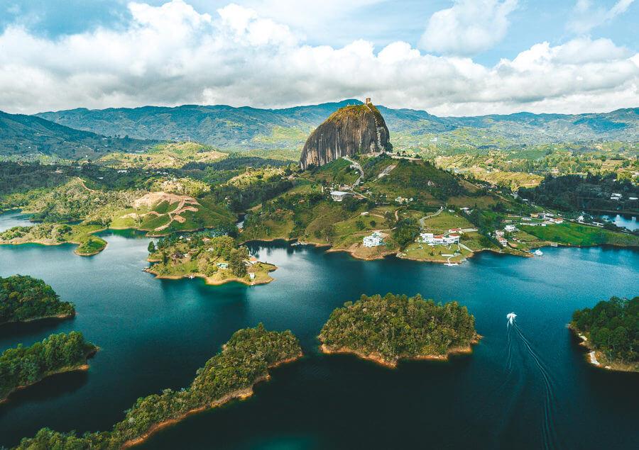 Guatape: La Piedra del Peñol e Laguna