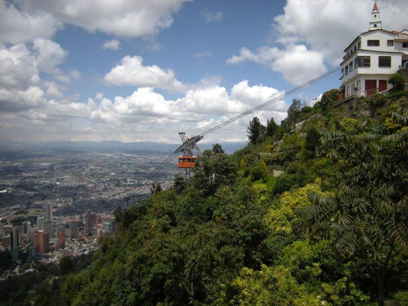 Teleférico para Monserrate em Bogotá