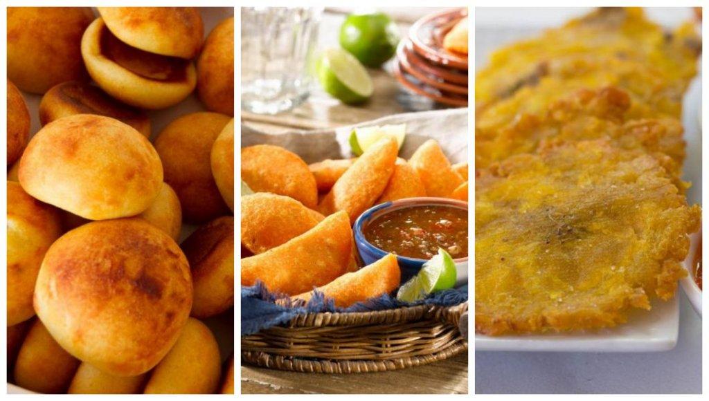 Almojabana, empanadas e patacones