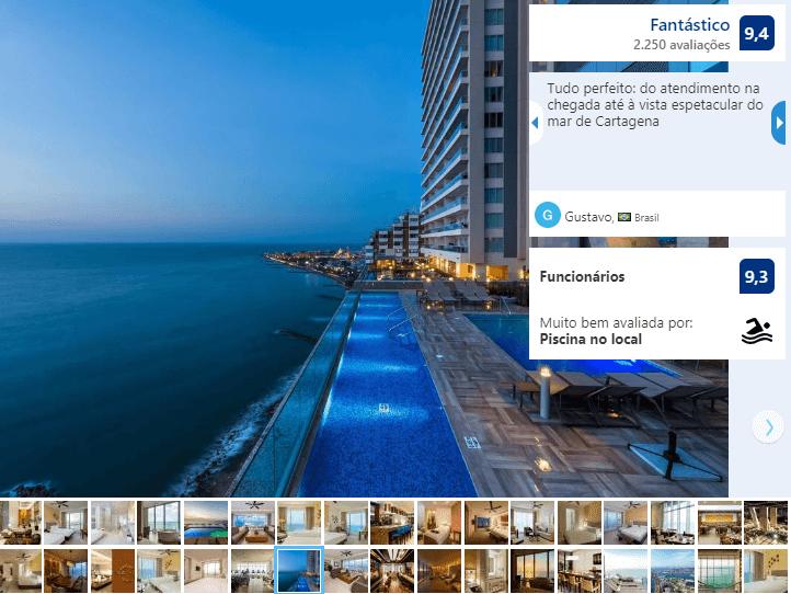 Piscina do Hotel Hyatt Regency Cartagena