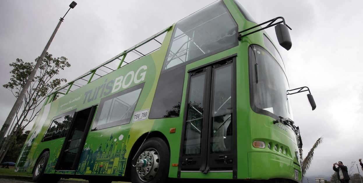 Ônibus do TurisBog em Bogotá