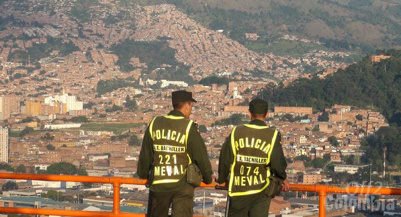 Segurança: Polícia em Medellín