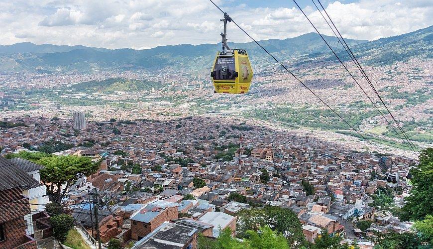 Metrocables em Medellín