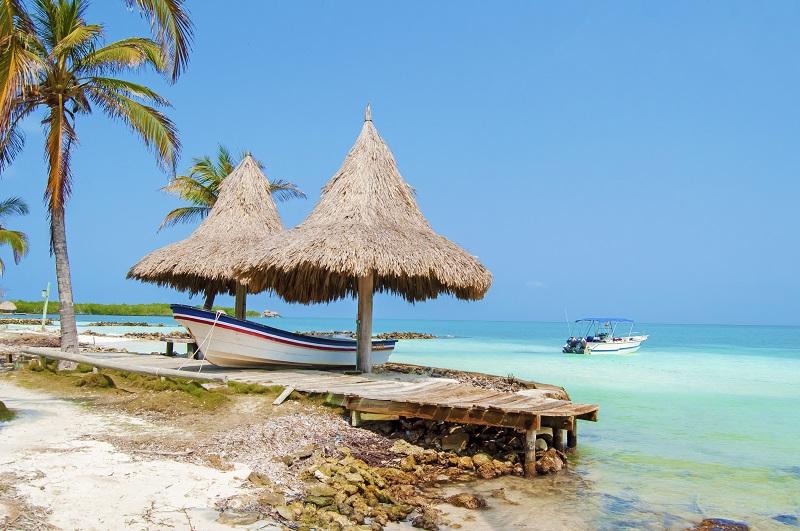 Praia da Ilha de Tintipán em Cartagena