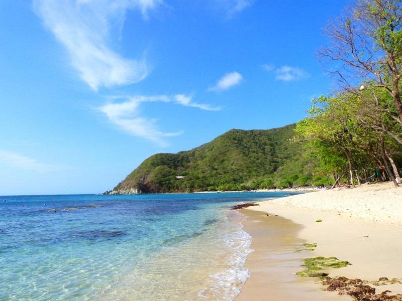 Praia Taganga na Colômbia