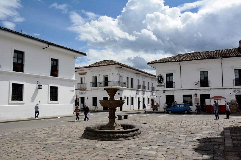 Praça em Popayán
