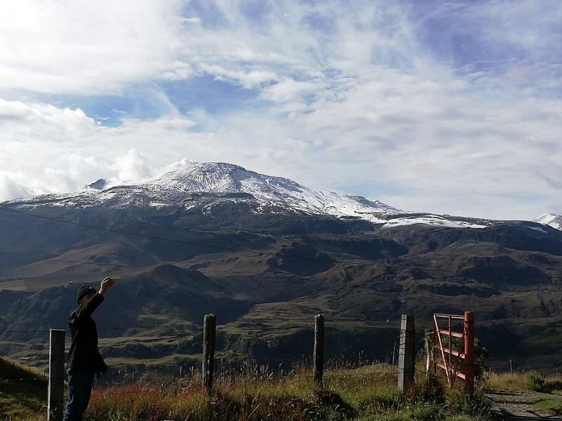 Vulcão Nevado del Ruiz na Colômbia