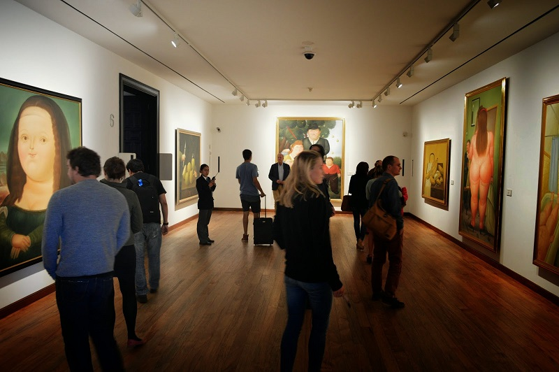 Interior do Museu Botero em Bogotá