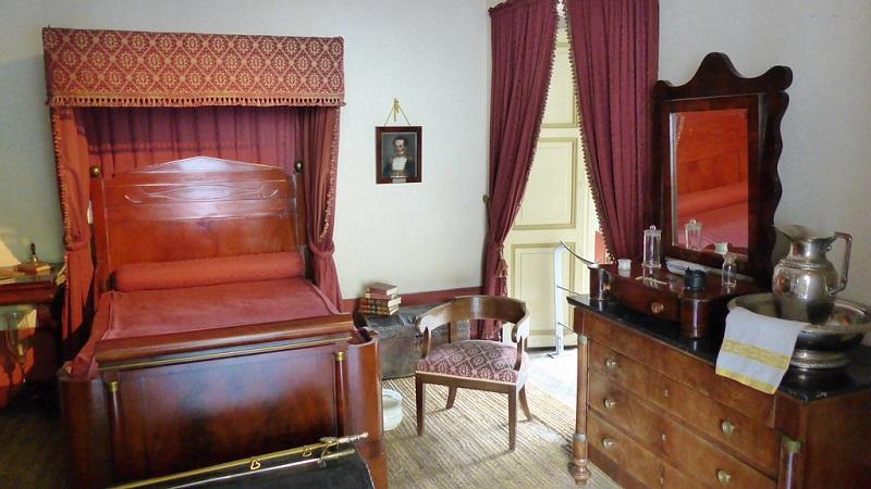 Quarto do Museu Casa Quinta de Bolívar em Bogotá