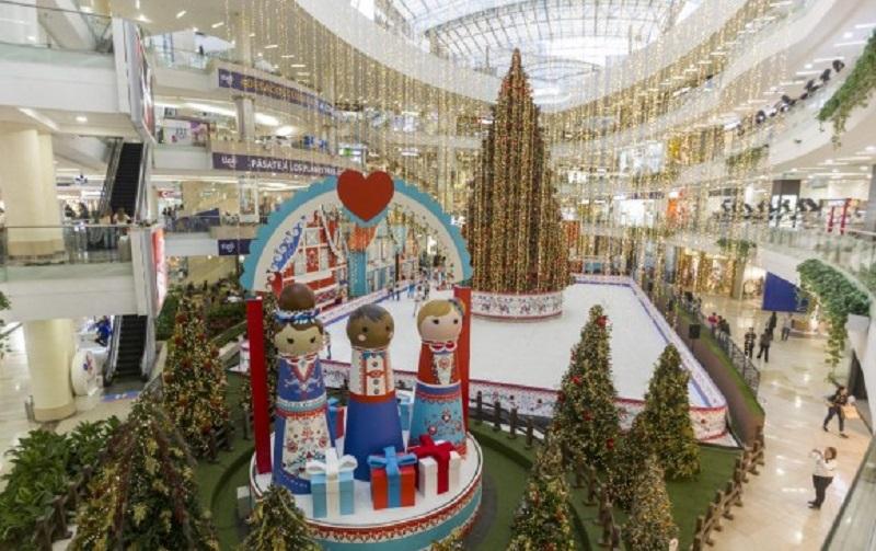 Natal no Centro Comercial Santafe em Bogotá